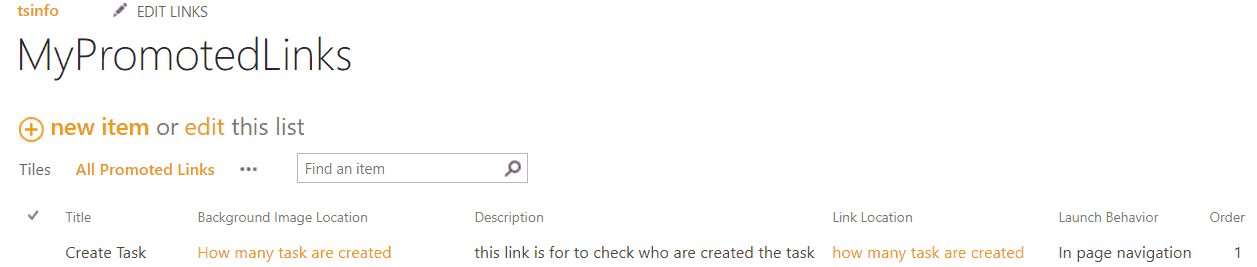 customize promoted links in sharepoint 2013
