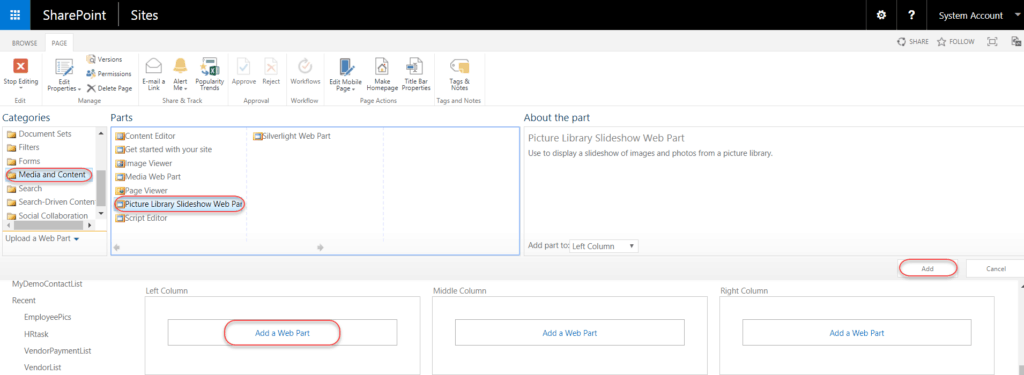 how to create a picture library in sharepoint 2013