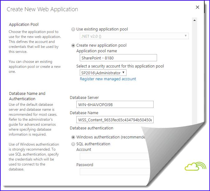 sharepoint 2016 web application