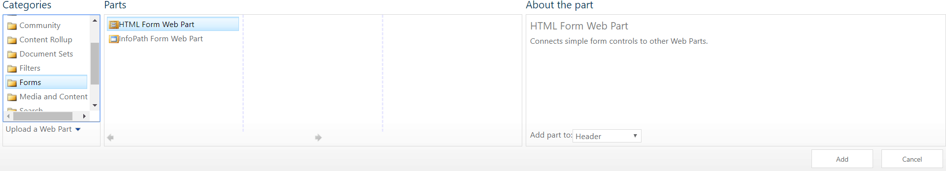 html form web part in sharepoint 2013