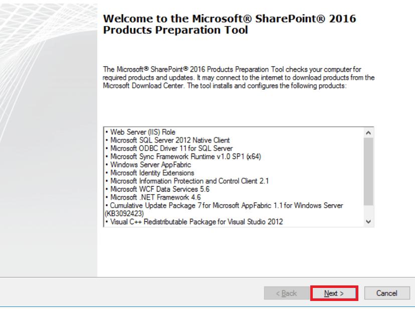 install sharepoint 2016 prerequisites