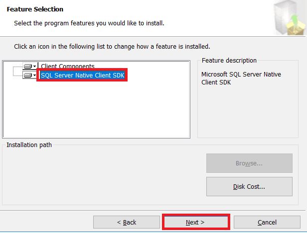 microsoft sql server 2012 native client download error sharepoint 2013