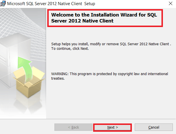 microsoft sql server 2012 native client download error sharepoint 2016