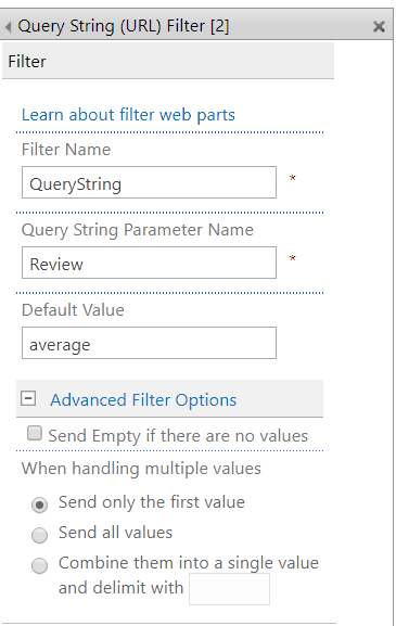 query string filter web part SharePoint 2013
