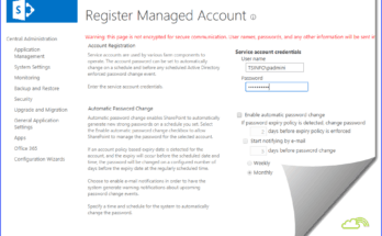 sharepoint 2016 managed service accounts