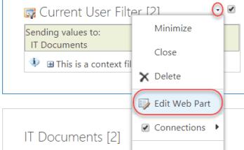sharepoint 2013 list filter web part properties