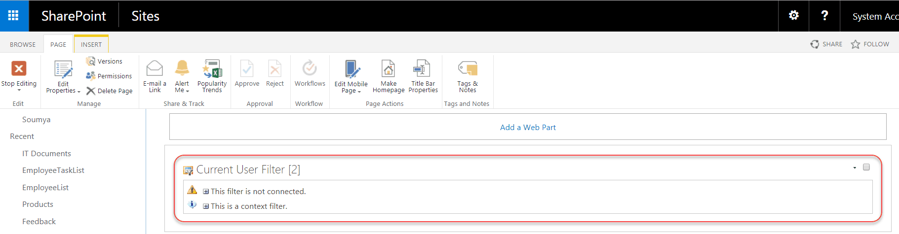 filter web part sharepoint 2013 missing