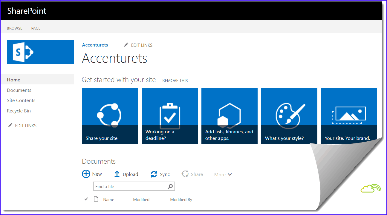 sharepoint 2016 team site