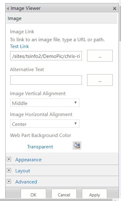 how to use image viewer webpart in sharepoint 2013