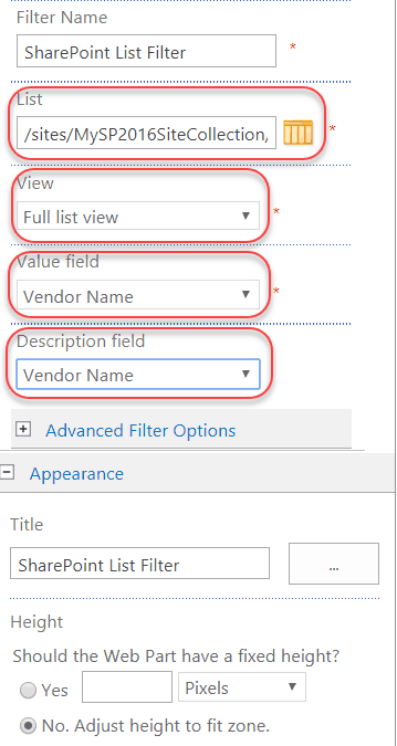 What is a list filter web part SharePoint 2016/2013/Online