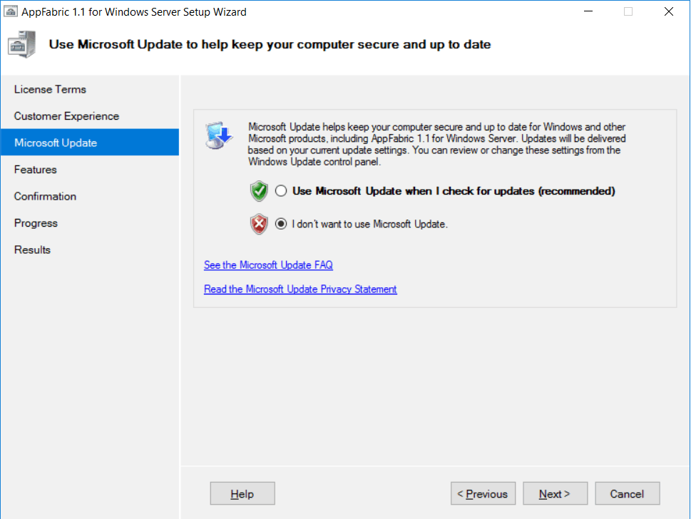 the tool was unable to download windows server appfabric