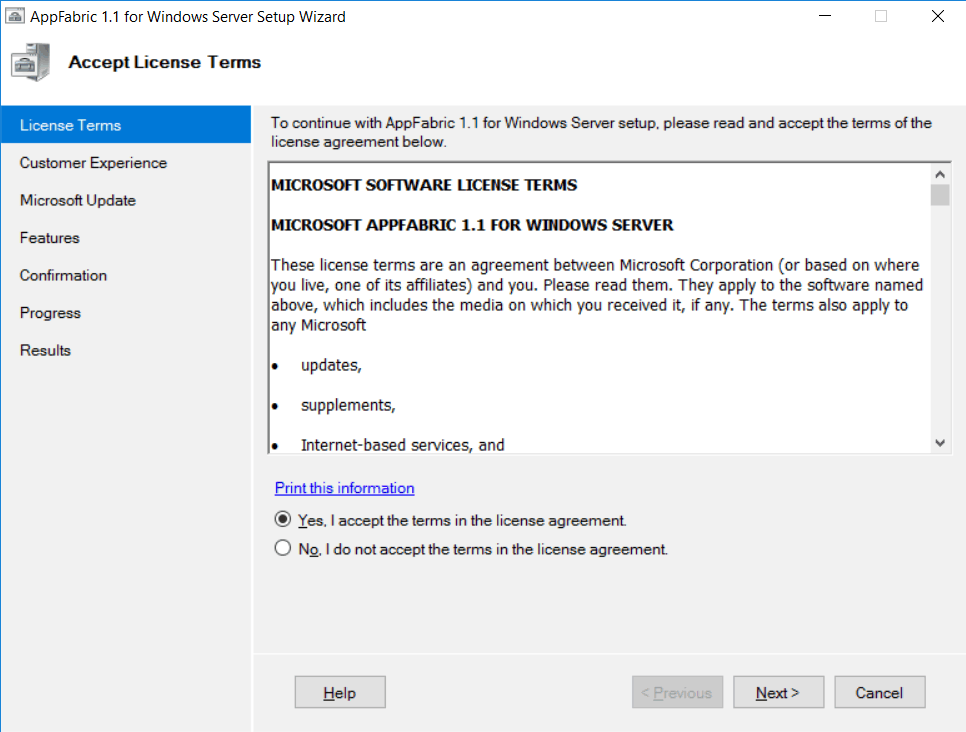 windows server appfabric installation error sharepoint 2016