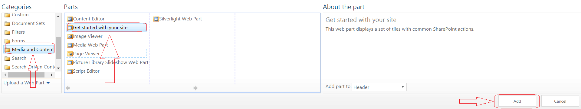 Get started with your Site Web Part in SharePoint 2016
