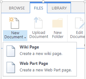 Working With Web Part Page And Wiki Page In Sharepoint 2016