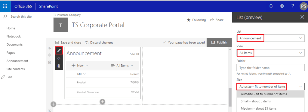 add list view web part sharepoint online