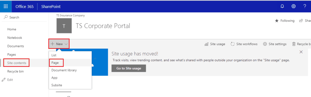 how to set modern homage in classoc SharePoint site