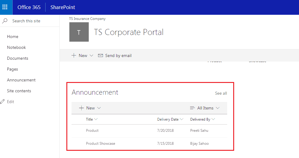 list view web part sharepoint online