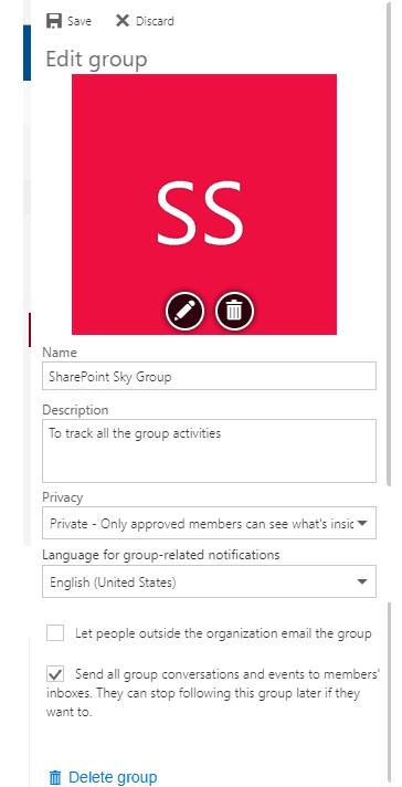 How do I edit a group calendar in Outlook?