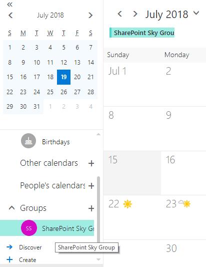 Schedule a meeting in Office 365 group calendar
