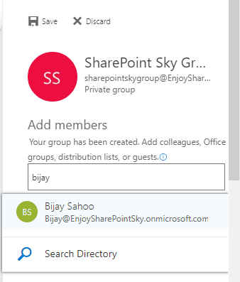 Add members to Office 365 groups