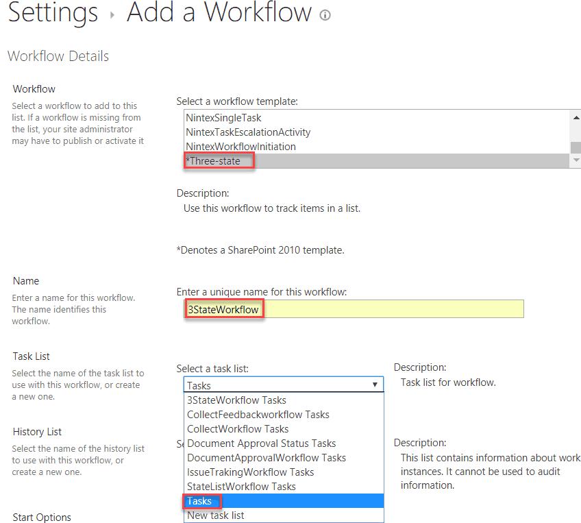 create three state workflow in sharepoint designer