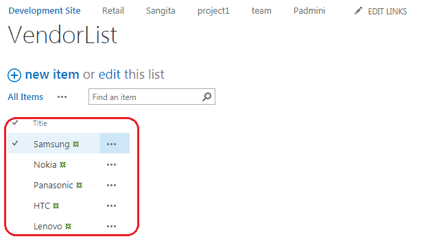 how to bind the dropdown value from a list using jsom