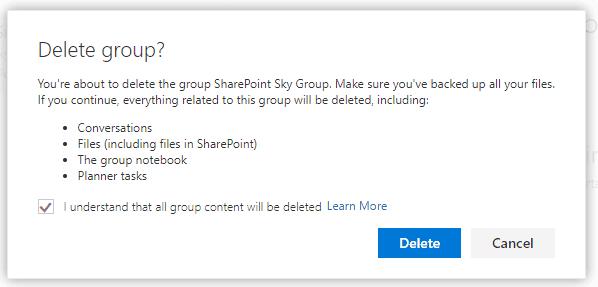 How do I delete a group calendar in Outlook?