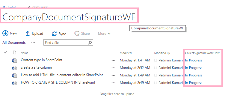 collect signatures workflow sharepoint 2010
