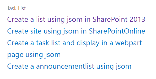 sharepoint javascript get list items