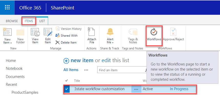 three state workflow in sharepoint with example - sharepointsky