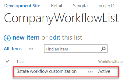 three state workflow sharepoint