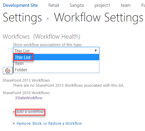 sharepoint 2013 three state workflow step by step