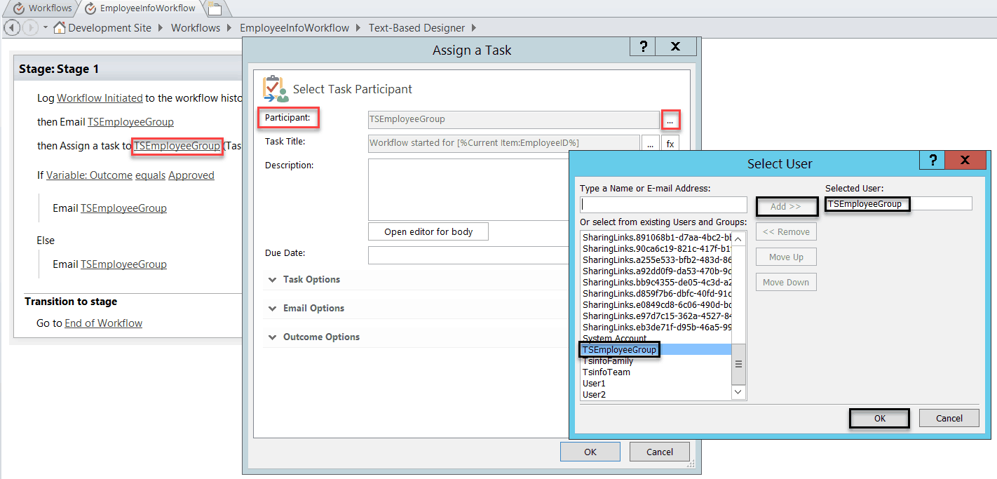 assign sharepoint workflow task to multiple users groups