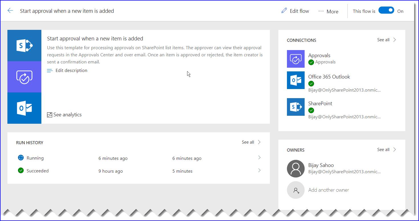 Create Microsoft flow SharePoint Online