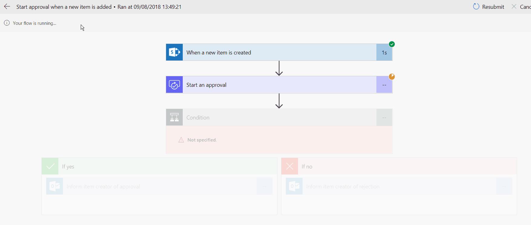 Create Microsoft flow SharePoint online list