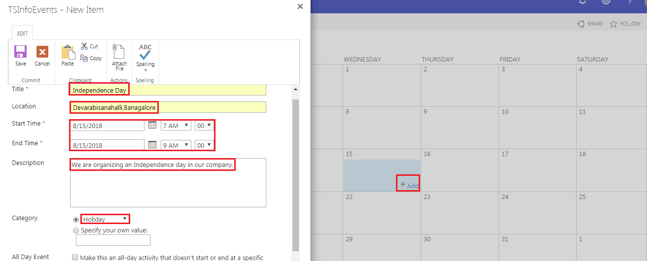 how to add sharepoint online calendar web part