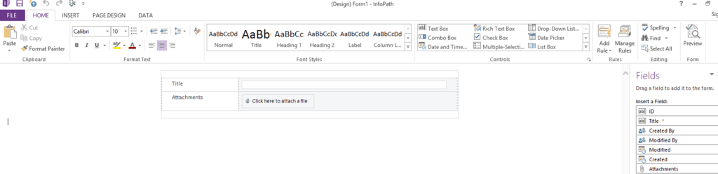 individual new,edit and display forms for sharepoint 2013 using infopath