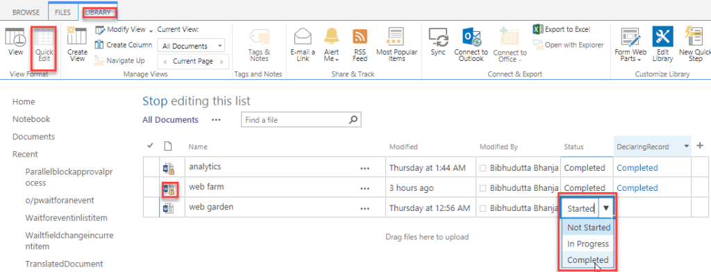 sharepoint designer workflow declare the item as a record