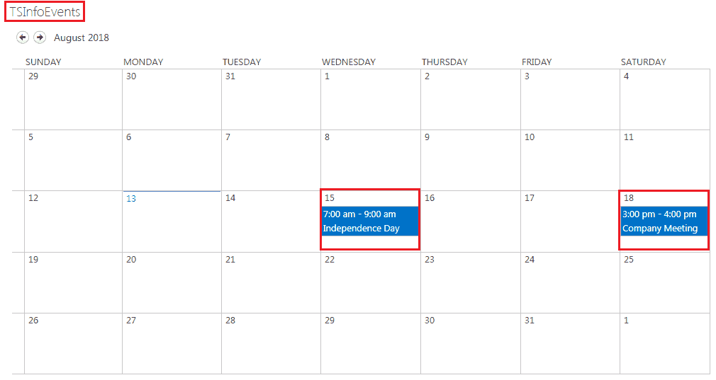 sharepoint 2013 calendar web part