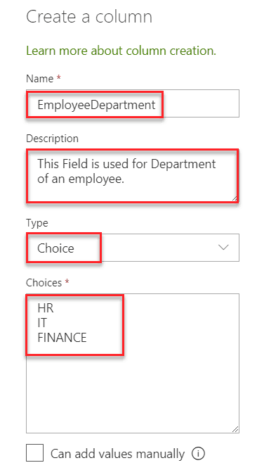 sharepoint column formatting examples