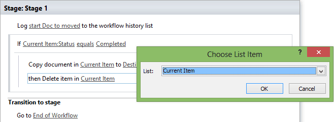 sharepoint designer 2013 workflow move document to another library