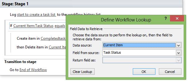 sharepoint designer workflow create list item