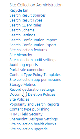sharepoint workflow declare item as record