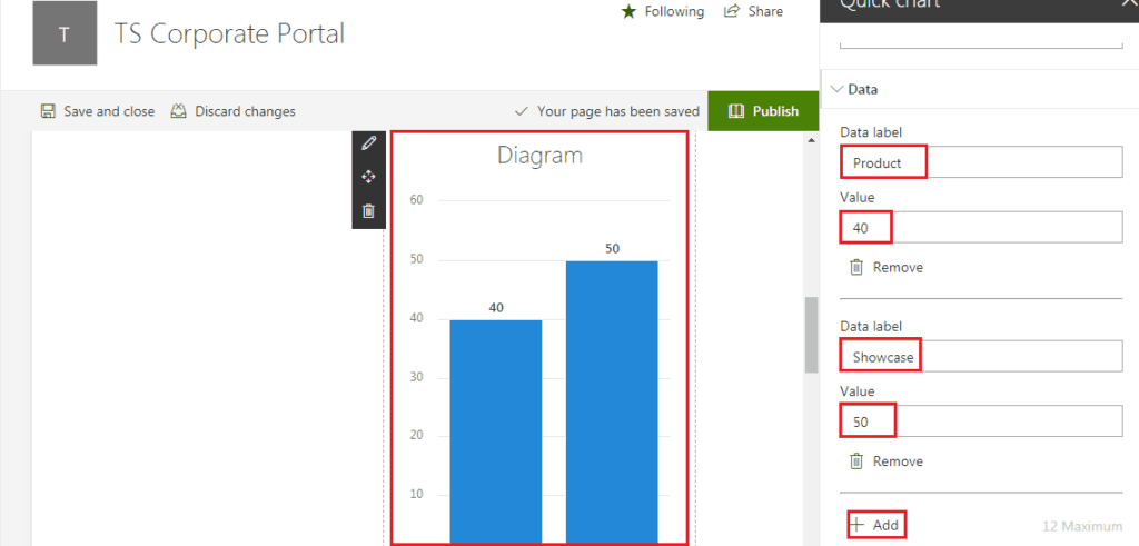 Quick Chart Web Part in Modern SharePoint Online Site