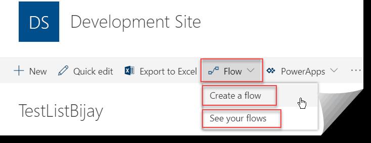 Microsoft flow sharepoint online