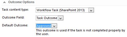 sharepoint designer 2013 start a task process workflow action