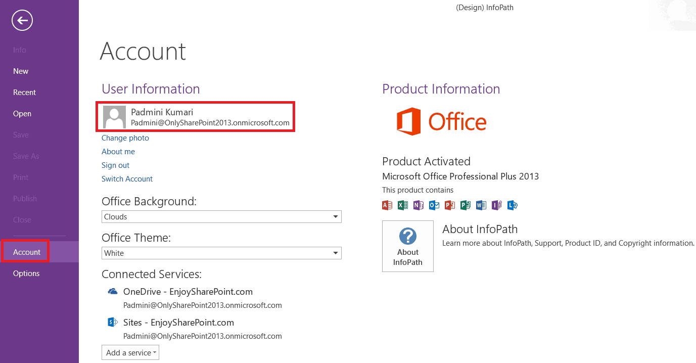 unable to connect to sharepoint site infopath