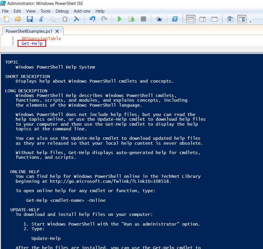 PowerShell add help to script