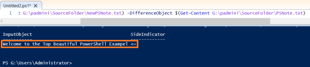 PowerShell compare two text files