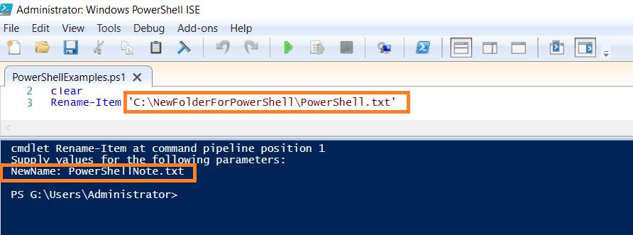 PowerShell rename files in a folder